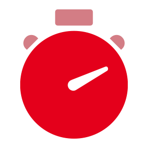 Stopwatch Icon - Gone-away Processing, Mosaic